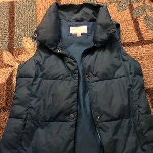 Turquoise Puffer vest